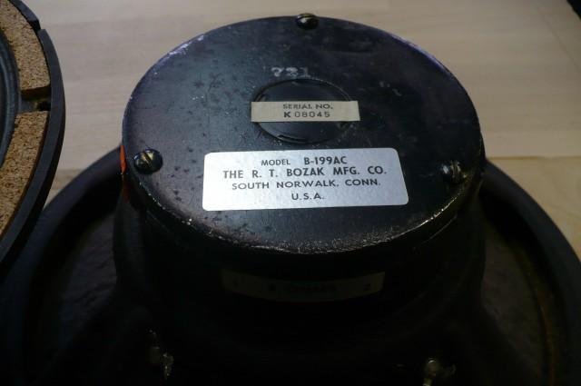 Альбом Динамики НЧ Bozak B-199AC. Фото.